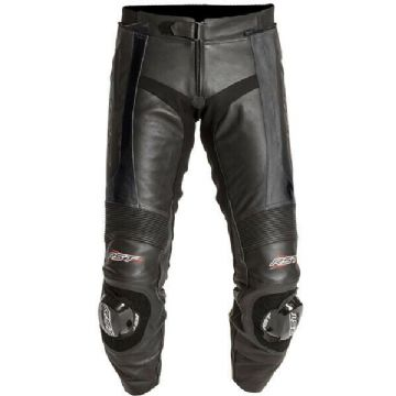 RST 1115 Blade Leather Motorcycle Motorbike Pants Jeans Trousers - Black - UK38